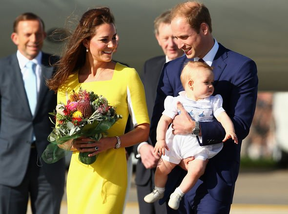 The Royal Family arrive at Sydney Airport on a Australian Airforce aircraft on April Image Getty