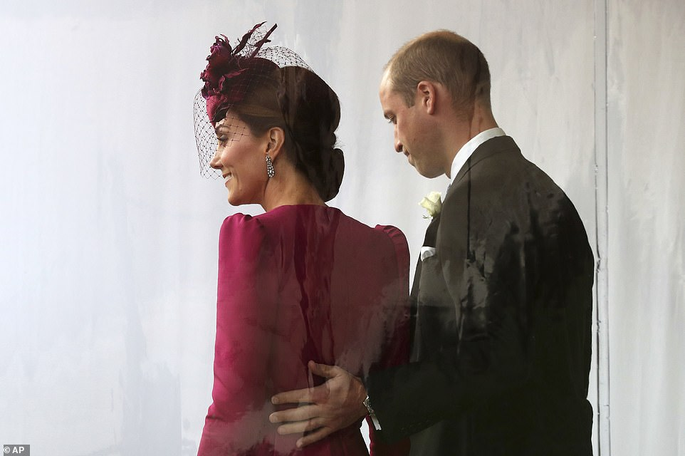 The couple at Princess Eugenies wedding Body language expert Judi James says The back pat steeringaffectionate signaling gesture is a signature feature from Harry and Meghan
