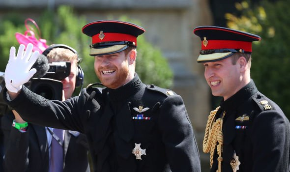 The two brothers stood as best men for each other at their royal weddings Image Getty
