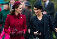 There have been rumours of a rift between Kate and Meghan Image GETTY