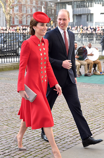 William and Kate pictured on Monday hosted a private trustees meeting Photo C GETTY IMAGES