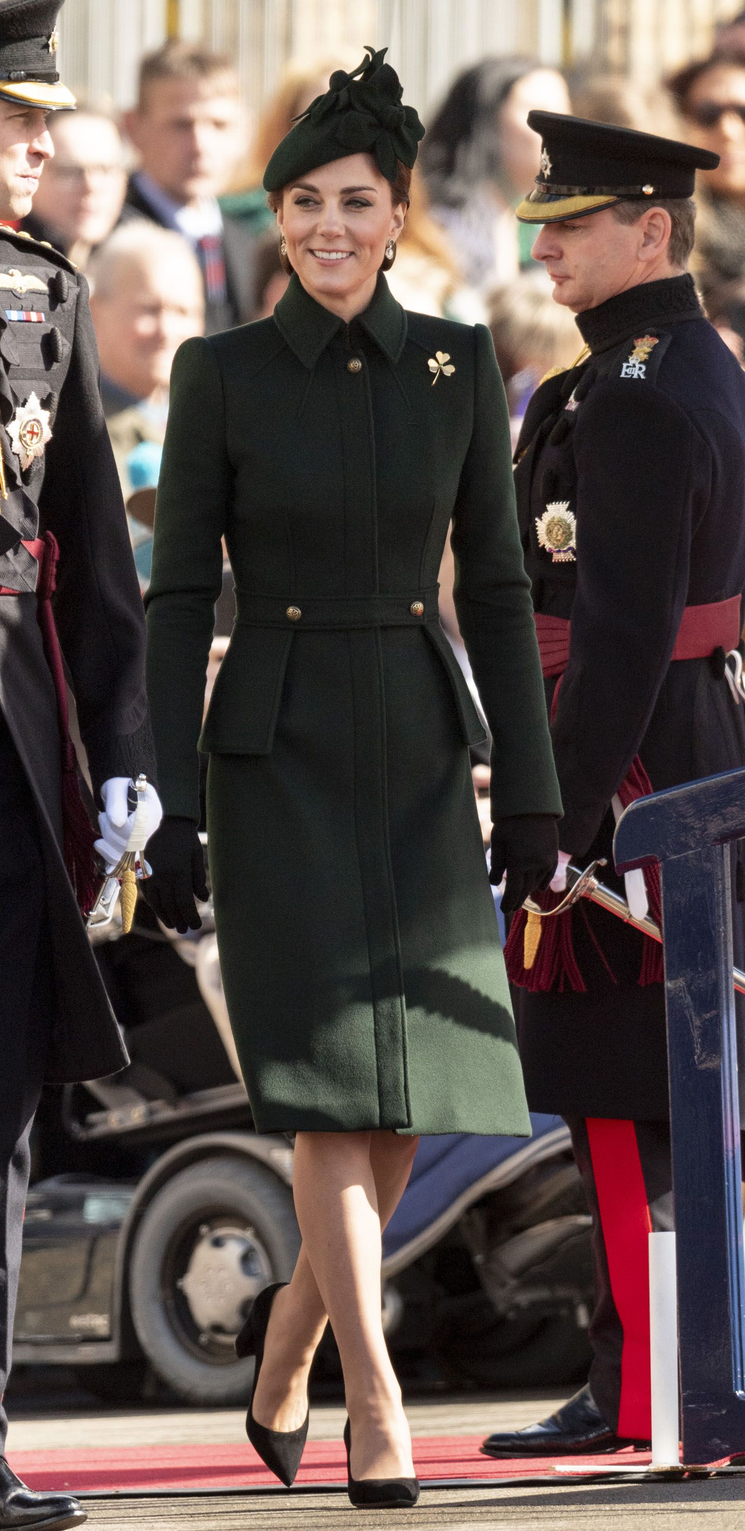 The Duke And Duchess Of Cambridge Attend The Irish Guards St Patrick