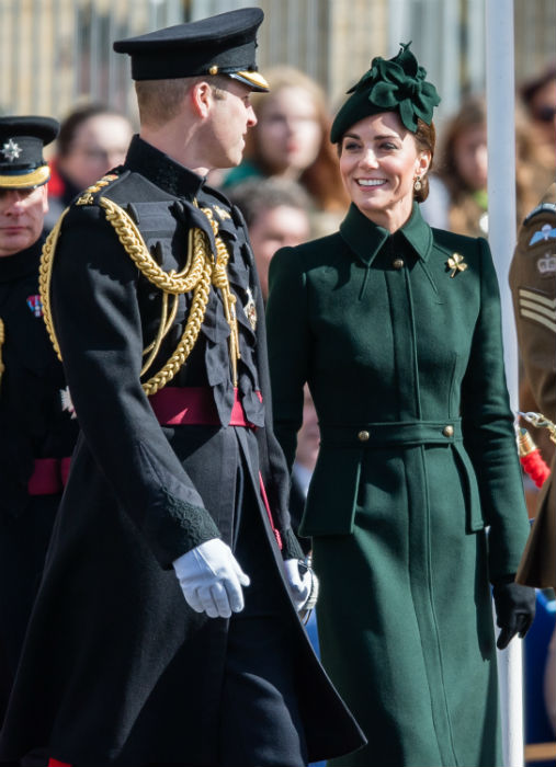 he royal couple were all smiles at the parade Photo C GETTY IMAGES
