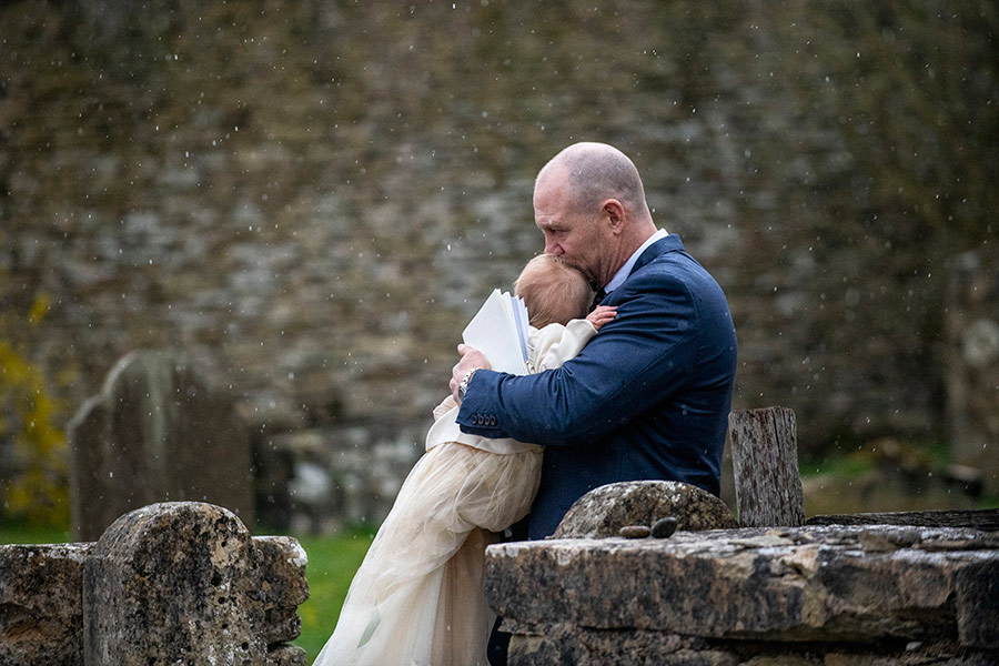 mike tindall lena christening a