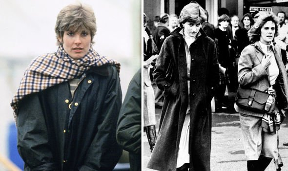 Anna Wallace left and Lady Diana Spencer with Camilla in Image Getty