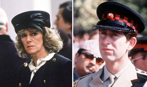 Camilla Parker Bowles and Prince Charles pictured in the s Image Getty