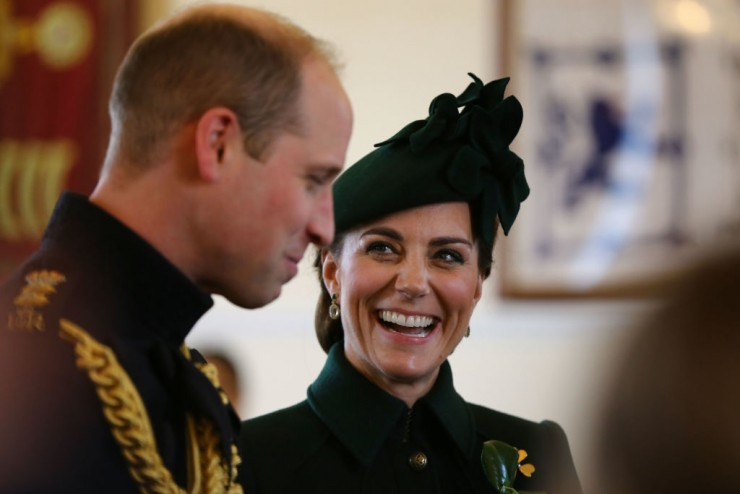 Catherine Duchess of Cambridge and Prince William Duke of Cambridge attend the st Battalion Irish Guards St Patricks Day Parade Getty C Images