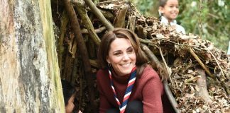 Catherine Duchess of Cambridge visits the Scouts' headquarters at Gilwell Park to learn more about the organisation's new pilot to bring Scouting to younger children Getty C Images