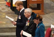 Find out why Kate Middleton and Prince Harry sat apart at Anzac Day service Photo C GETTY IMAGES