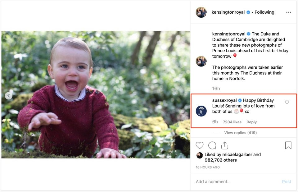 Happy Birthday Louis Kensington Palace Instagram