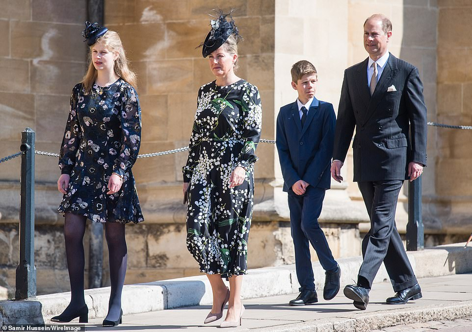 Its the Wessexs second day in Windsor as the family of four yesterday attended the Easter Service at St Georges chapel pictured