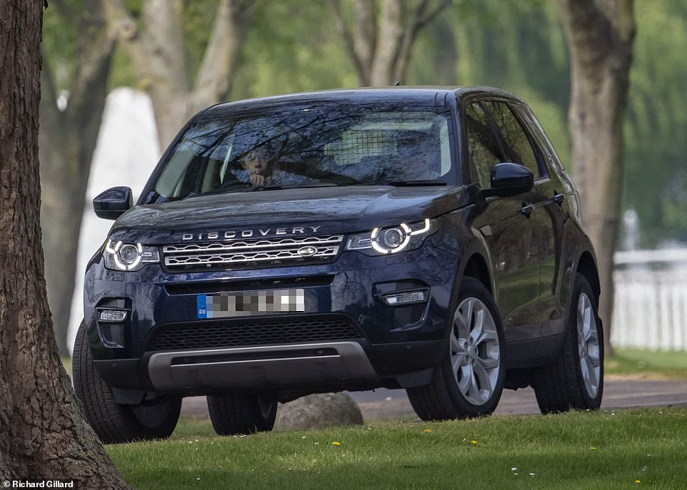 James Viscount Severn was spotted taking the family Land Rover for a spin around the grounds of Windsor Castle On Monday