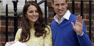 Kate and Prince William smile as they show off their newborn Princess Charlotte in from The Lindo Wing of St Marys Hospital in London Photo C Getty Imags