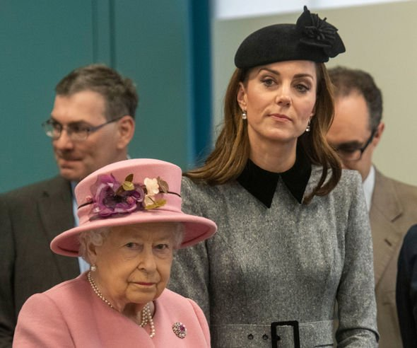 Kate attended her first solo engagement with the Queen at Kings College London Image c GETTY