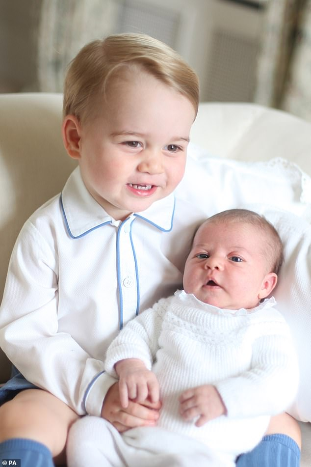 Kate became the first member of the royal family to take the first official photographs of a royal baby back in
