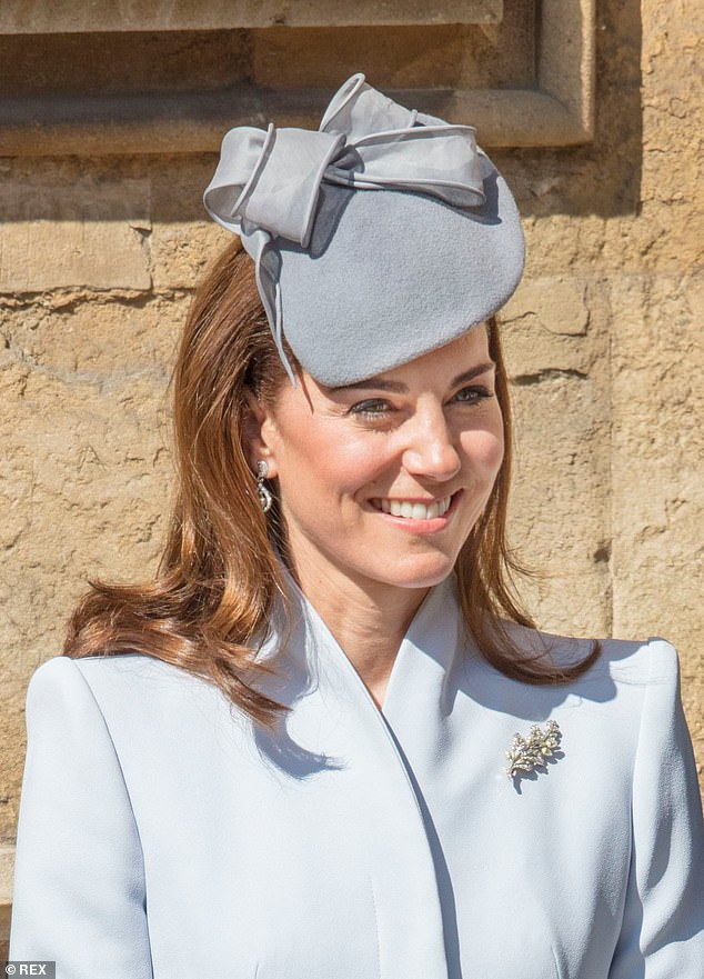 Kate wore a stunning diamond and pearl oak leaf and acorn brooch which she first debuted in May during the Queens Diamond Jubilee celebrations
