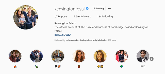 Kensington Palace updated their profile photo and bio Photo C GETTY IMAGES