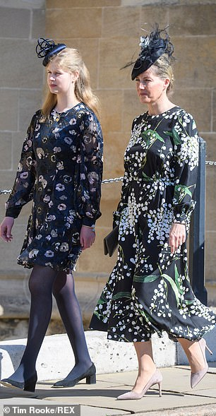 Lady Louise Windsor and Sophie Countess of Wessexopted for vibrant floral patterns for the Easter Sunday celebration