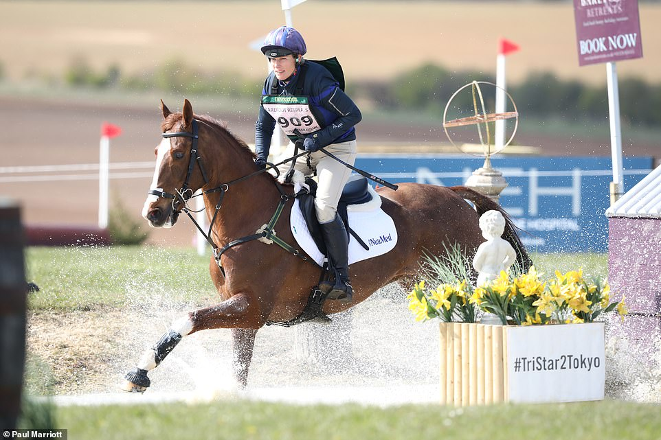 Last year Zara fell from her horse but this time she finished a respectable third and fifth in her events as her relatives cheered her on
