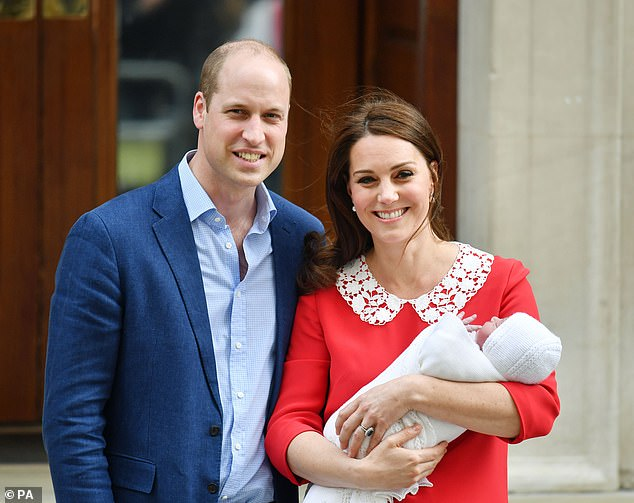 Louis pictured in Kates arms is the Duke and Duchess of Cambridges third child after Prince George and Princess Charlotte who will turn six and four this year