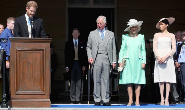 Meghan and Harry attended Prince Charles th birthday party three days into married life Image GETTY