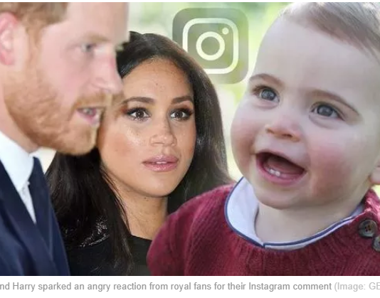 Meghan and Harry sparked an angry reaction from royal fans for their Instagram comment Image GETTY