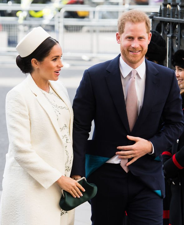 Meghan and Harry will soon welcome their first child in just few weeks Image GETTY