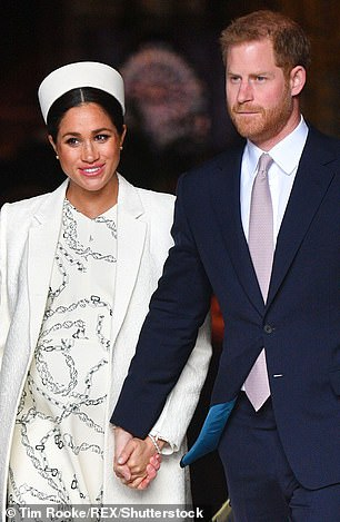 Meghan pictured above with Prince Harry is said to have worked closely with builders during renovations