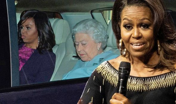 Michelle Obama has discussed meeting the Queen on her latest book tour Image C GETTY