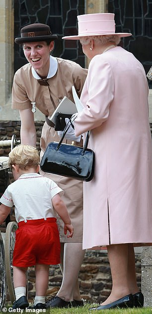 Norland nannies are fsvoured by the Royal household and Kate and William employed Maria Teresa Turrion Borrallo above with the Queen and Prince George