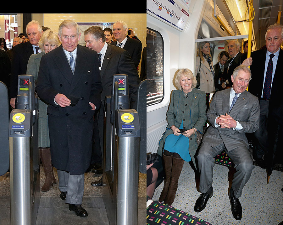 Prince Charles on the tube Photo C GETTY IMAGES