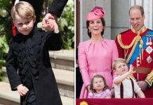 Prince George with his parents the Duke and Duchess of Cambridge photo C gettty imagees