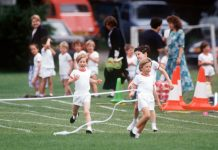 Prince Harry and Princess Diana taking part in sports day is the cutest video youll watch today photo C Getty Images