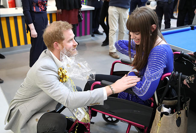 Prince Harry receives special royal baby gifts as he opens new youth facility in east London Photo C GETTY IMAGES