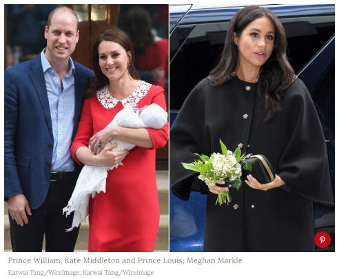 Prince William Kate Middleton and Prince Louis Meghan Markle