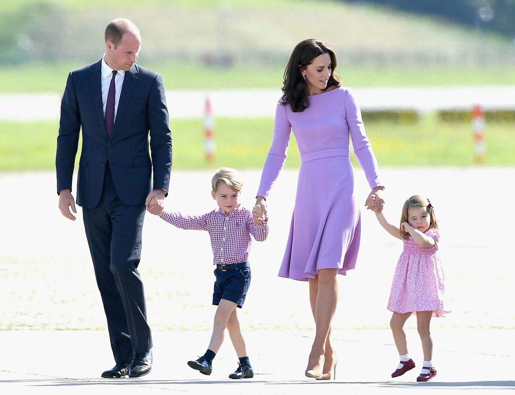 Prince William and Kate Middleton with their family Photo C Samir Hussein Samir Hussein WireImage