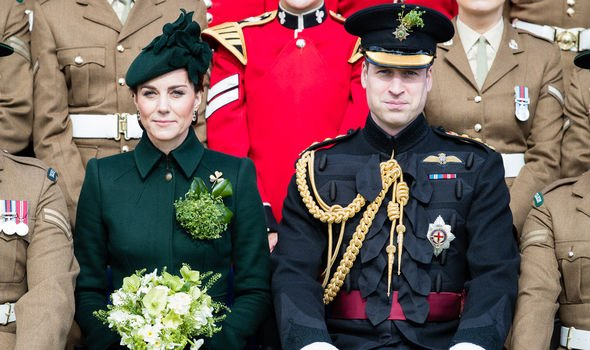 Prince William and Kate attend the st Battalion Irish Guards St Patricks Day Parade Image C GETTY