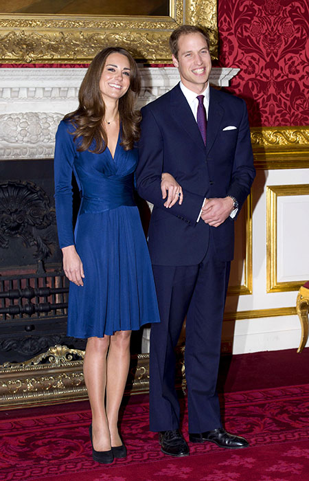 Prince William and Kates engagement photocall Credit Tim Rooke Shutterstock