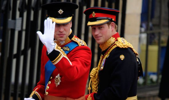 Prince William and Prince Harry on the big day Image C Getty