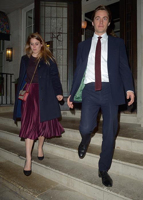 Princess Beatrice with boyfriend Edoardo Mapelli Mozzi at Mayfair photo C getty images