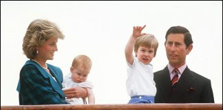 Princess Diana and Prince Charles with Princes William and harry Getty C Images