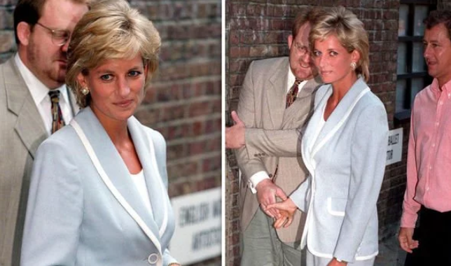 Princess Diana on the day the royal divorce was finalised in Image C Getty