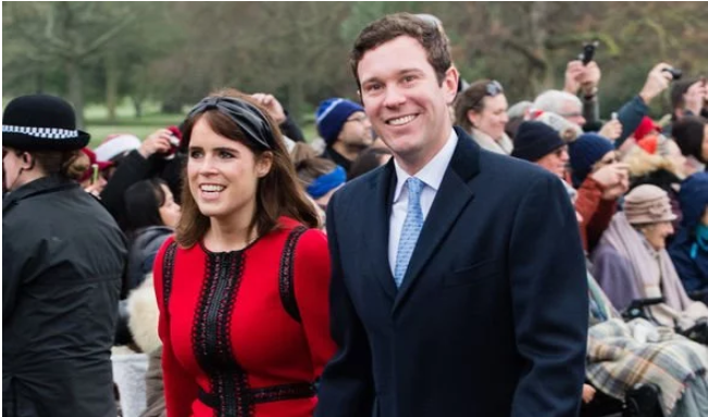 Princess Eugenie and husband Jack Brooksbank attended the Christmas service in Sandringham Image GETTY