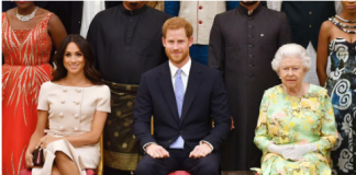 Queen Elizabeth II Meghan Markle and Prince Harry phtoo C wire images