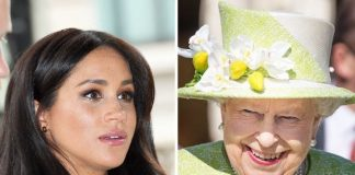 ROW There are rumoured tensions between Meghan Markle left and the Queen Pic GETTY