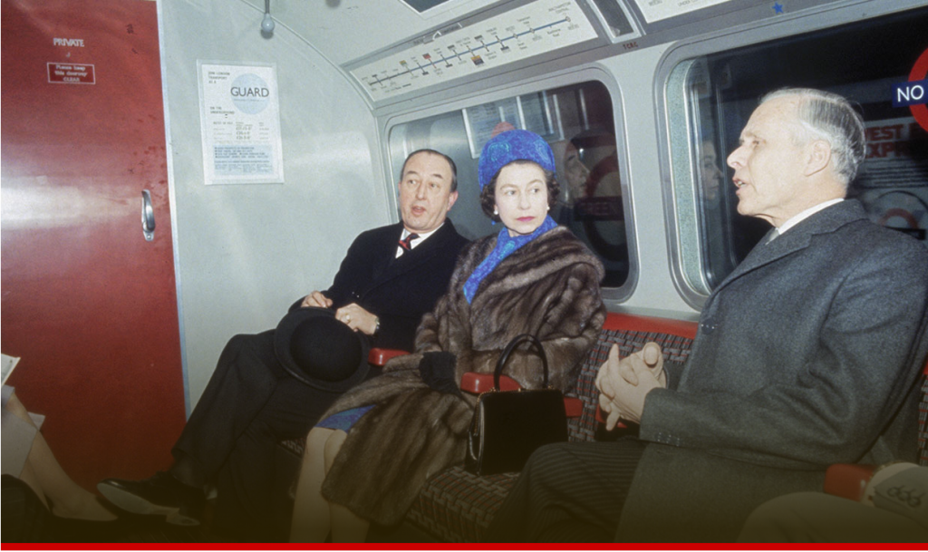 Royals on public transport from the Queen on the tube to Kate Middleton on a bus Photo C GETTY IMAGES