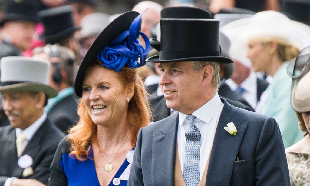 Sarah Duchess of York shares great pride in ex husband Prince Andrew – see photo C getty images