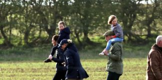 The Cambridge family were last seen out on Friday Photo C GETTY IMAGES