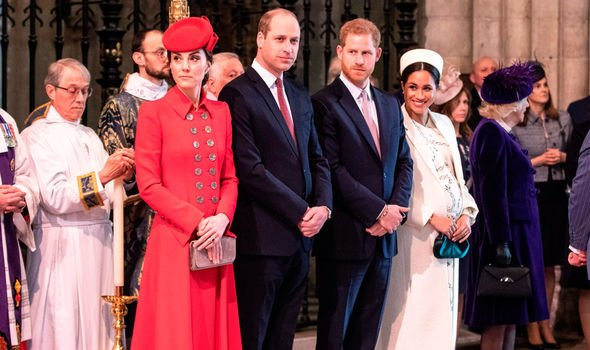 The Duke and Duchess of Cambridge with the Duke and Duchess of Sussex on Commonwealth Day Image C Getty