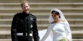 The Duke and Duchess of Sussex on their wedding day in Image Getty